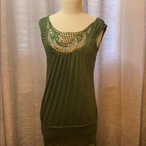 Buy  2 items for $10 Sleeveless tunic with beading